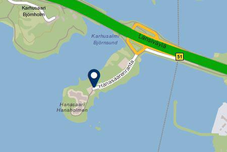 Hanasaari kartalla